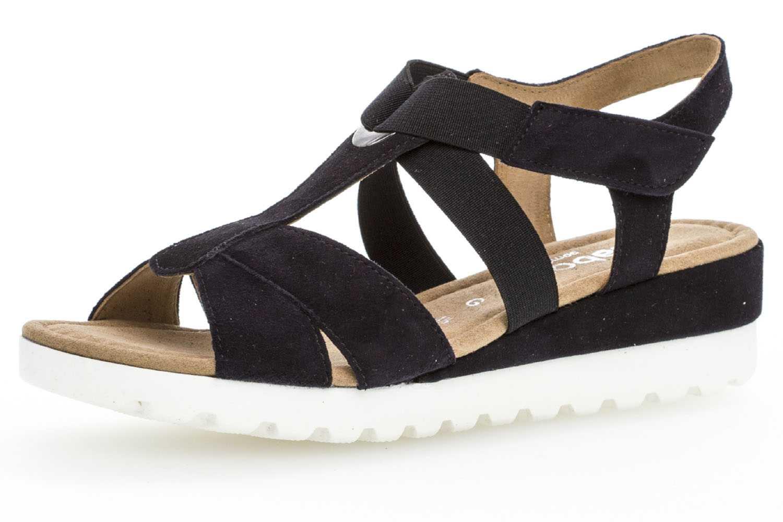 Gabor Comfort Sport Sandalette in Übergrößen Blau 82.754.86 große Damenschuhe – Bild 1
