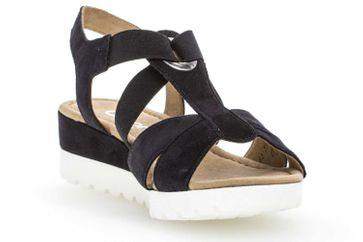 Gabor Comfort Sport Sandalette in Übergrößen Blau 82.754.86 große Damenschuhe – Bild 5
