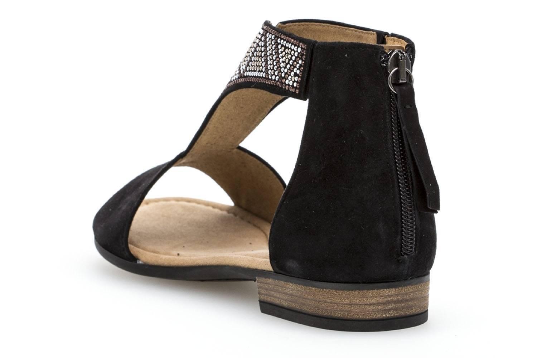 Gabor Comfort Sport Sandalette in Übergrößen Schwarz 82.763.47 große Damenschuhe – Bild 2