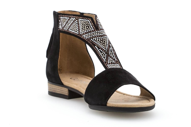 Gabor Comfort Sport Sandalette in Übergrößen Schwarz 82.763.47 große Damenschuhe – Bild 5