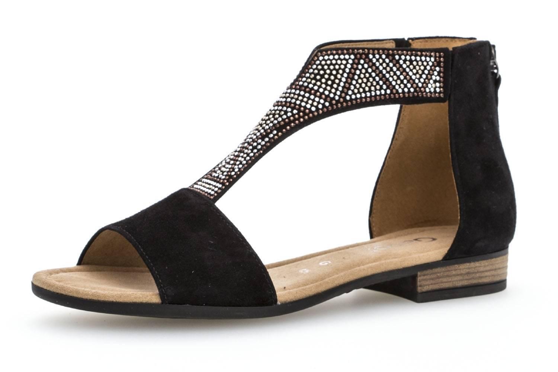 Gabor Comfort Sport Sandalette in Übergrößen Schwarz 82.763.47 große Damenschuhe – Bild 1