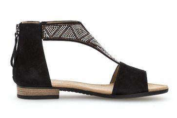 Gabor Comfort Sport Sandalette in Übergrößen Schwarz 82.763.47 große Damenschuhe – Bild 4