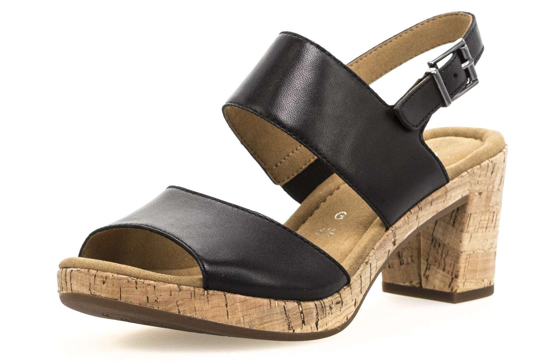 Gabor Comfort Sport Sandalette in Übergrößen Schwarz 82.777.57 große Damenschuhe – Bild 1