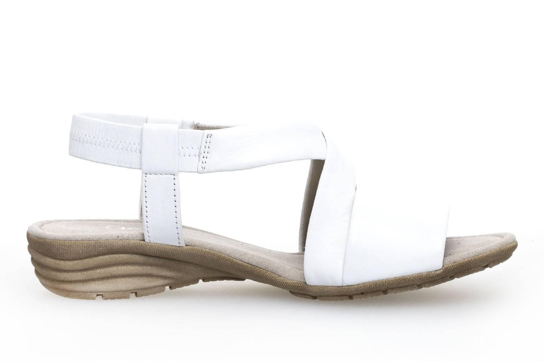 Gabor Gabor Casual Sandalette in Übergrößen Weiß 84.550.21 große Damenschuhe – Bild 4