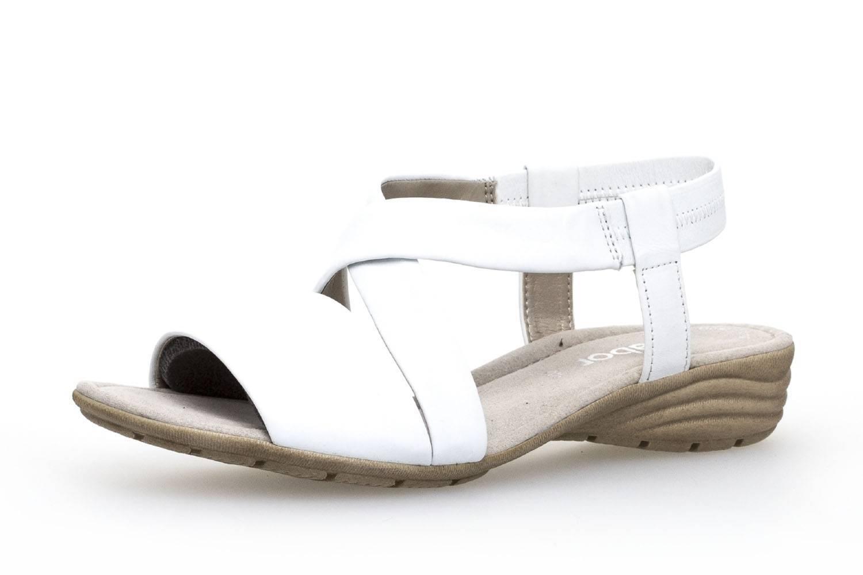 Gabor Gabor Casual Sandalette in Übergrößen Weiß 84.550.21 große Damenschuhe – Bild 1