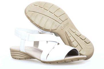 Gabor Gabor Casual Sandalette in Übergrößen Weiß 84.550.21 große Damenschuhe – Bild 6