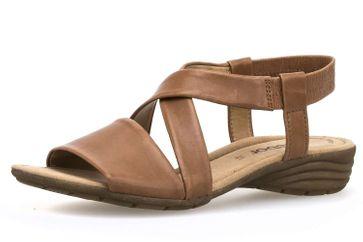 Gabor Gabor Casual Sandalette in Übergrößen Beige 84.550.24 große Damenschuhe – Bild 1