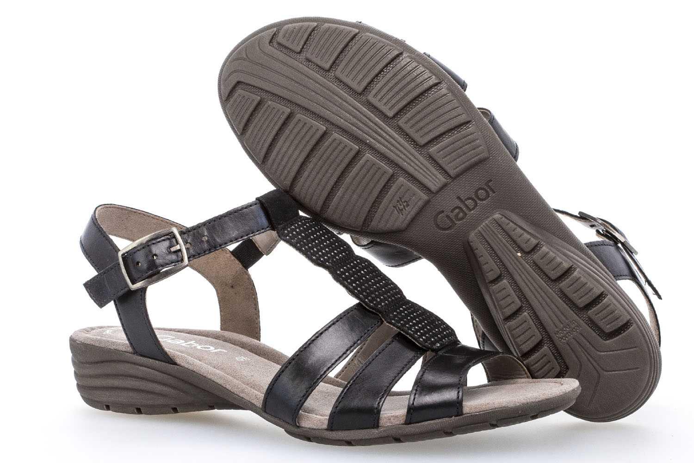 Gabor Gabor Casual Sandalette in Übergrößen Schwarz 84.559.27 große Damenschuhe – Bild 6