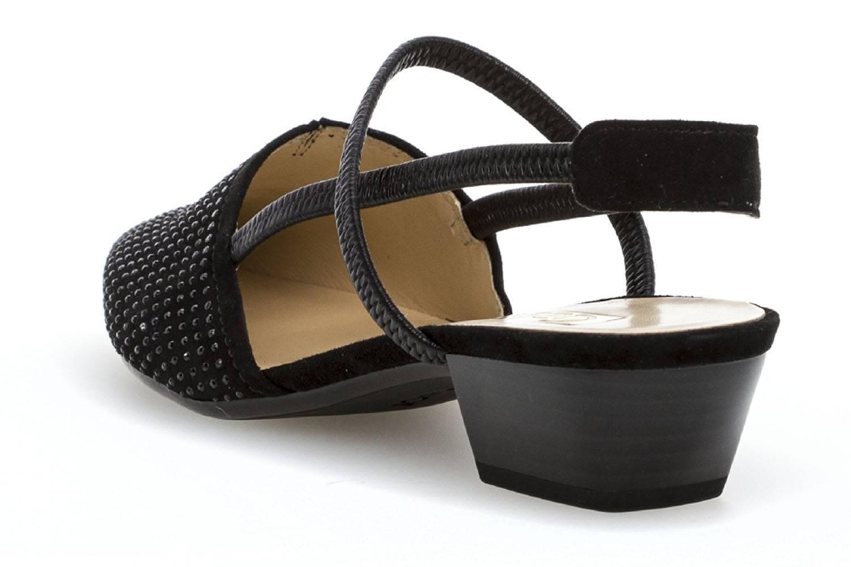 Gabor Gabor Basic Sling in Übergrößen Schwarz 85.632.17 große Damenschuhe – Bild 2