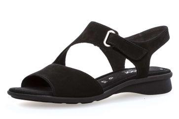 Gabor Comfort Basic Sandalette in Übergrößen Schwarz 86.063.47 große Damenschuhe – Bild 1