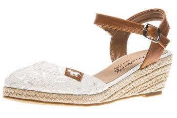 Mustang Shoes Sandaletten in Übergrößen weiß 1066-910-1 große Damenschuhe – Bild 1