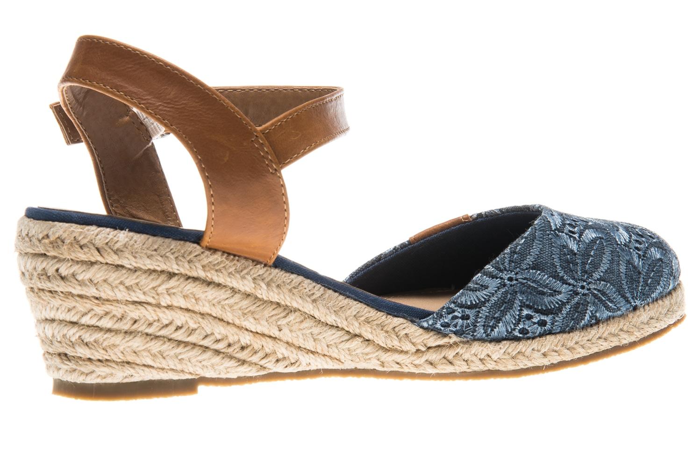 Mustang Shoes Sandaletten in Übergrößen blau 1066-910-8 große Damenschuhe – Bild 3