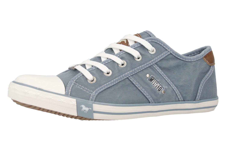 Mustang Shoes Sneaker in Übergrößen himmelblau 1099-302-807 große Damenschuhe – Bild 1