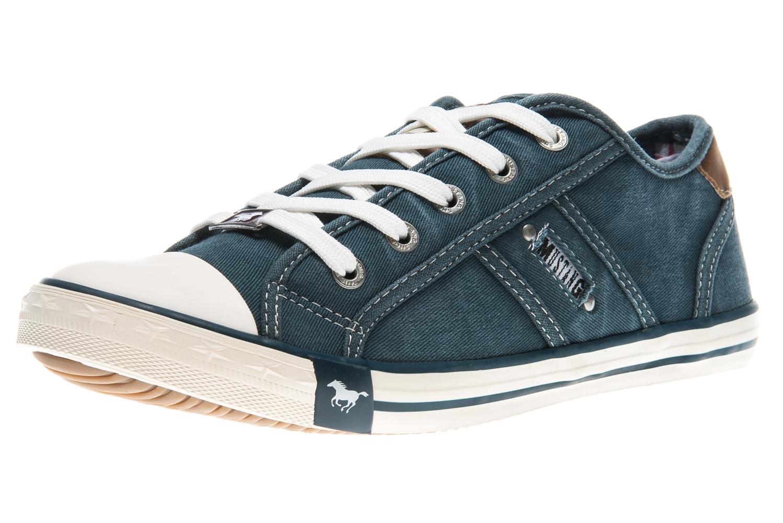 Mustang Shoes Sneaker in Übergrößen blau/grün 1099-302-87 große Damenschuhe – Bild 1