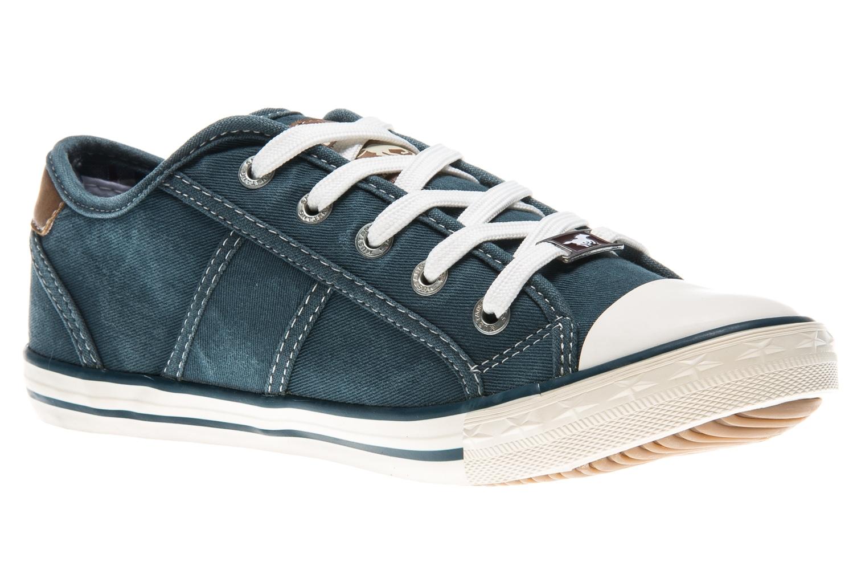 Mustang Shoes Sneaker in Übergrößen blau/grün 1099-302-87 große Damenschuhe – Bild 5