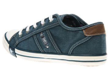 Mustang Shoes Sneaker in Übergrößen blau/grün 1099-302-87 große Damenschuhe – Bild 2