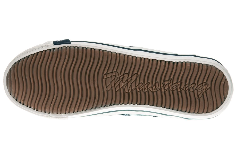 Mustang Shoes Slipper in Übergrößen blau/grün 1099-401-87 große Damenschuhe – Bild 7