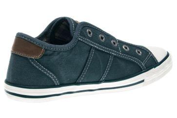 Mustang Shoes Slipper in Übergrößen blau/grün 1099-401-87 große Damenschuhe – Bild 3