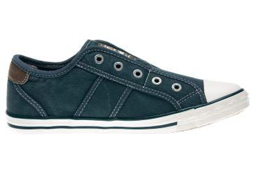 Mustang Shoes Slipper in Übergrößen blau/grün 1099-401-87 große Damenschuhe – Bild 4