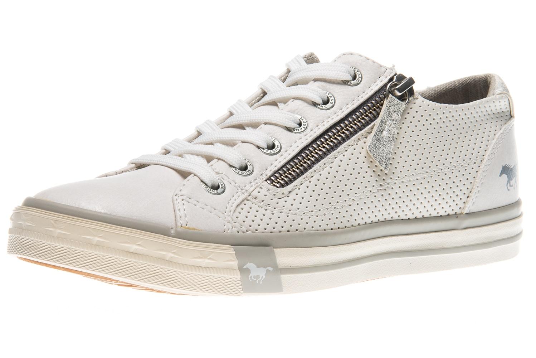 Mustang Shoes Sneaker in Übergrößen weiß 1146-302-1 große Damenschuhe – Bild 1