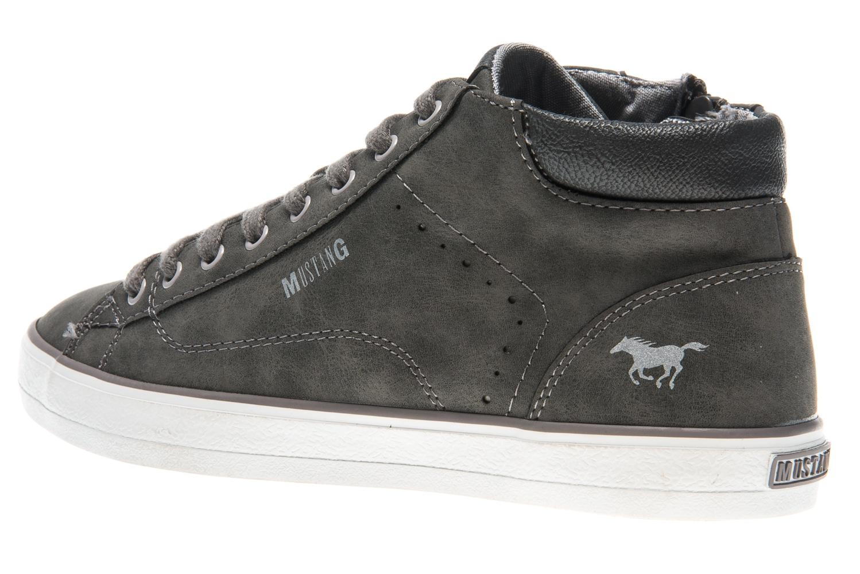 Mustang Shoes High Top Sneaker in Übergrößen dunkelgrau 1267-501-20 große Damenschuhe – Bild 2