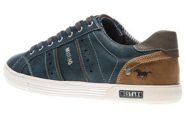 Mustang Shoes Sneaker in Übergrößen Blau 4120-303-810 große Herrenschuhe – Bild 2