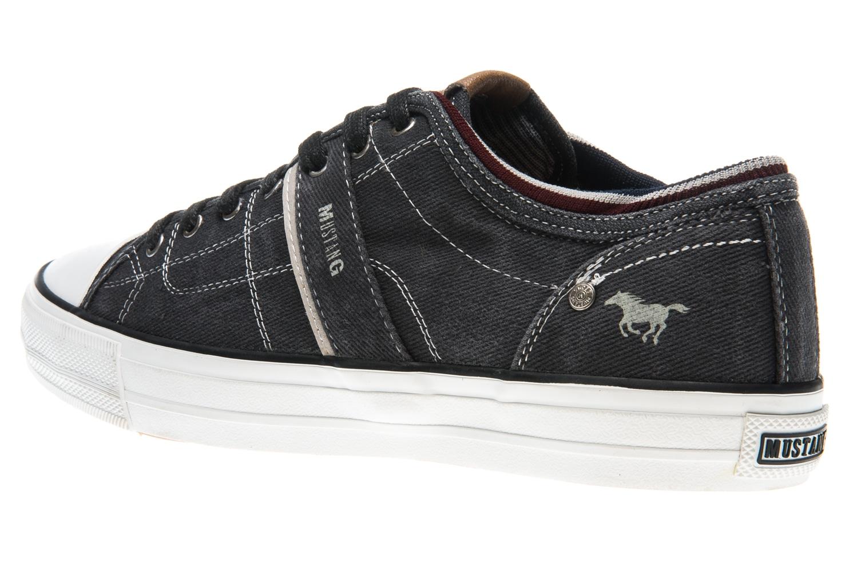 Mustang Shoes Sneaker in Übergrößen schwarz 4127-303-9 große Herrenschuhe – Bild 2