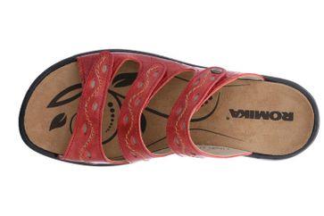 Romika Ibiza 66 Pantoletten in Übergrößen Rot 16066 69 400 große Damenschuhe – Bild 7