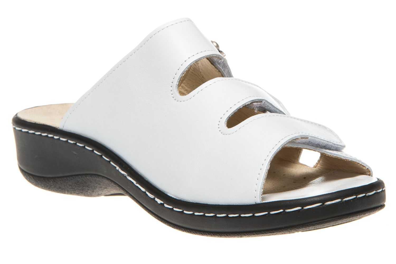 Hickersberger Vario Pantoletten in Übergrößen Weiß 5110 8080 große Damenschuhe – Bild 5