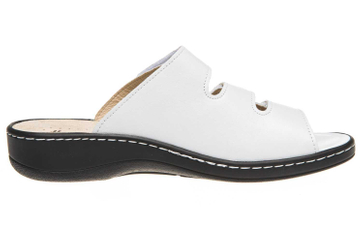Hickersberger Vario Pantoletten in Übergrößen Weiß 5110 8080 große Damenschuhe – Bild 4