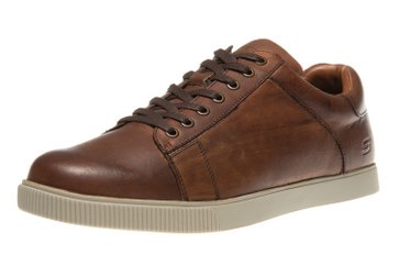 Skechers VOLDEN FANDOM Sneakers in Übergrößen Braun 65323/TNS große Herrenschuhe