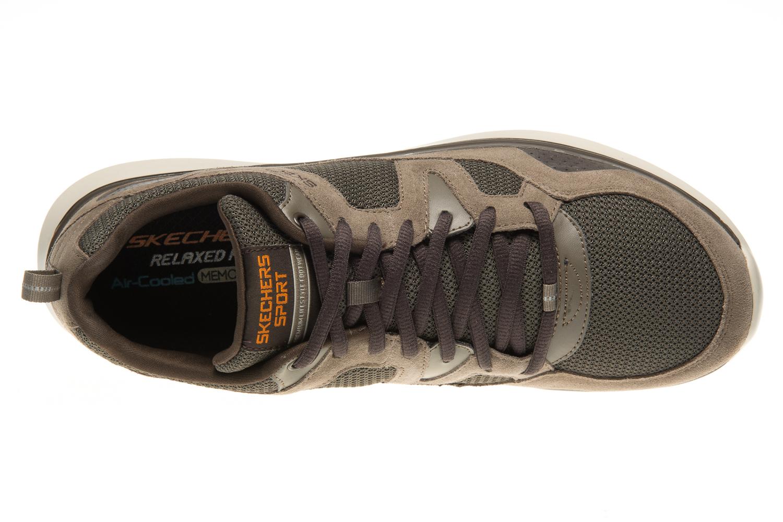 4dabdcbdc27f Skechers QUANTUM-FLEX COUNTRY WALKER Sneakers in Übergrößen Braun 52905 BRN  große Herrenschuhe –