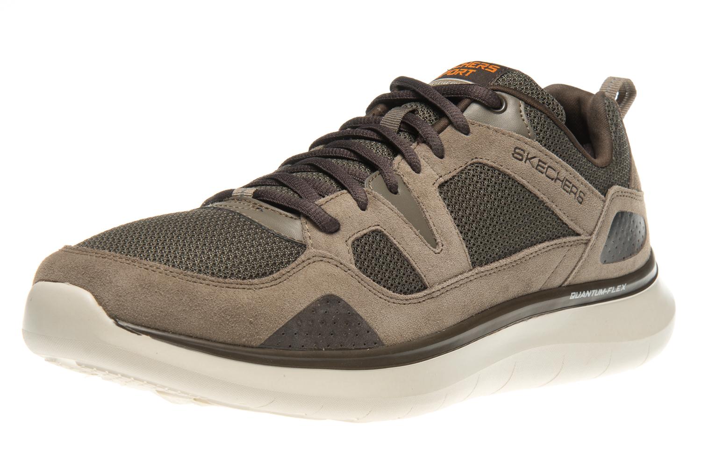 Skechers QUANTUM-FLEX COUNTRY WALKER Sneakers in Übergrößen Braun 52905/BRN große Herrenschuhe – Bild 1