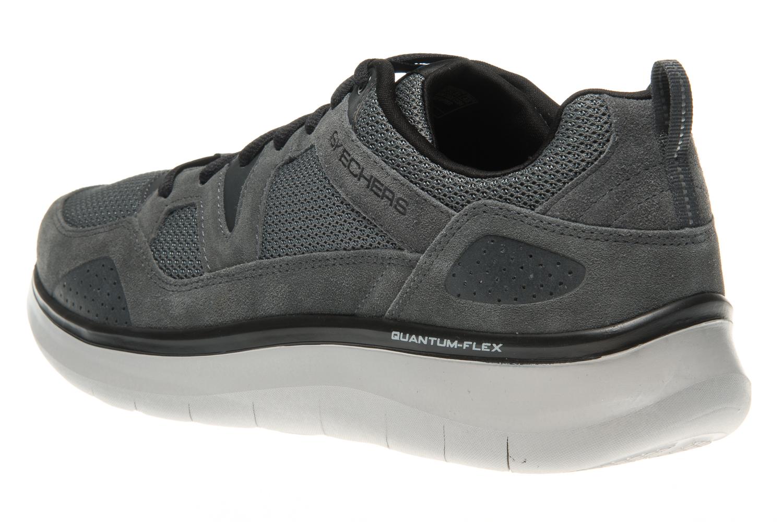 Skechers QUANTUM-FLEX COUNTRY WALKER Sneakers in Übergrößen Grau 52905/CCBK große Herrenschuhe – Bild 2