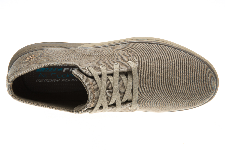 Skechers FOLTEN BRISOR Sneakers in Übergrößen Taupe 65371/TPE große Herrenschuhe – Bild 7