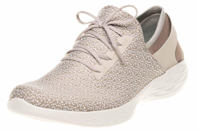 Skechers YOU INSPIRE Sneakers in Übergrößen Beige 14950/NAT große Damenschuhe – Bild 1