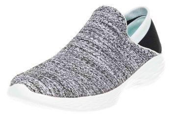 Skechers YOU Sneakers in Übergrößen Weiß 14951/WBK große Damenschuhe