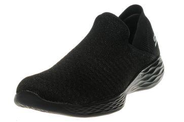 Skechers YOU TRANSCEND Sneakers in Übergrößen Schwarz 14959/BBK große Damenschuhe