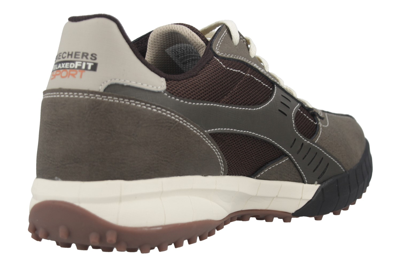 Skechers FLOATER 2.0 Sneakers in Übergrößen Braun 51852/BRTP große Herrenschuhe – Bild 4