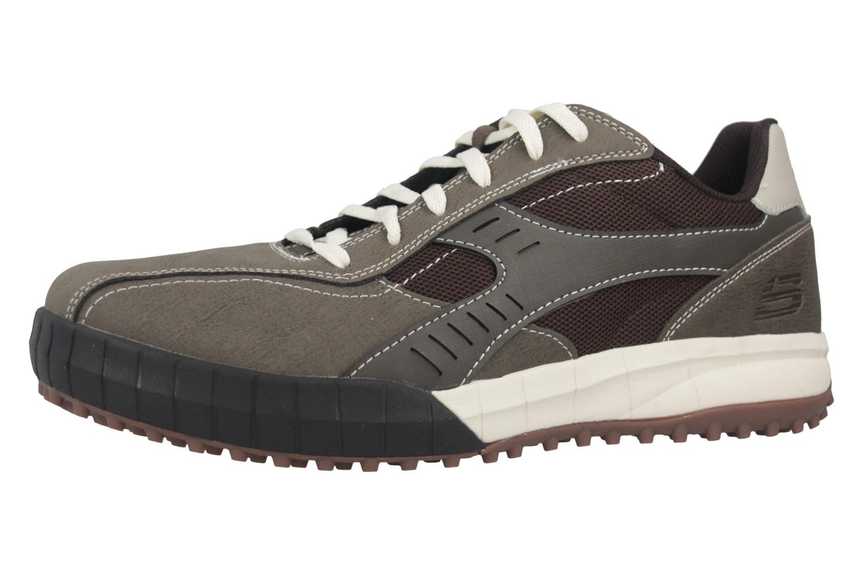 Skechers FLOATER 2.0 Sneakers in Übergrößen Braun 51852/BRTP große Herrenschuhe – Bild 1