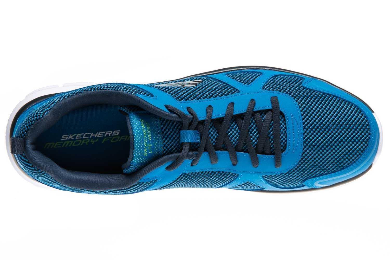 Skechers TRACK BUCOLO Sportschuhe/Laufschuhe in Übergrößen Blau 52630/BLLM große Herrenschuhe – Bild 6