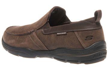 Skechers HARPER FORDE Sneakers in Übergrößen Braun 64858/DKBR große Herrenschuhe – Bild 2