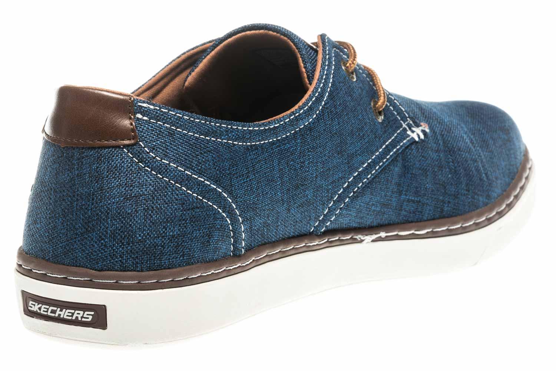 Skechers PALEN GADON Sneakers in Übergrößen Blau 64925/NVY große Herrenschuhe – Bild 3