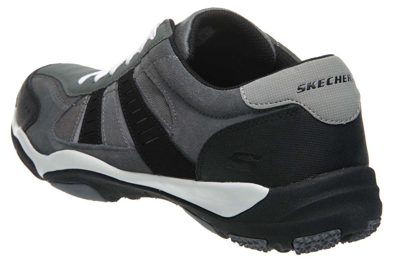 Skechers LARSON SOTES Sneakers in Übergrößen Grau 64971/CCBK große Herrenschuhe – Bild 2