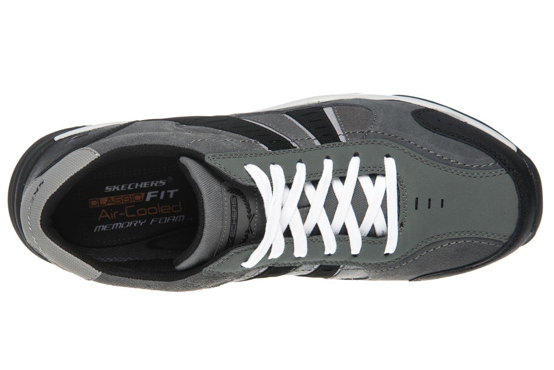 Skechers LARSON SOTES Sneakers in Übergrößen Grau 64971/CCBK große Herrenschuhe – Bild 7