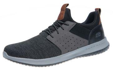 Skechers DELSON CAMBEN Sneakers in Übergrößen Schwarz 65474/BKGY große Herrenschuhe – Bild 1