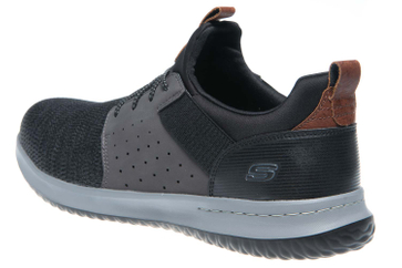 Skechers DELSON CAMBEN Sneakers in Übergrößen Schwarz 65474/BKGY große Herrenschuhe – Bild 2