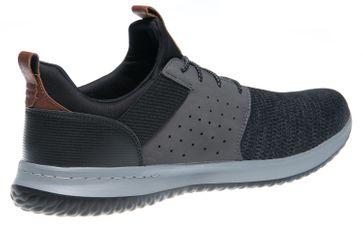 Skechers DELSON CAMBEN Sneakers in Übergrößen Schwarz 65474/BKGY große Herrenschuhe – Bild 3