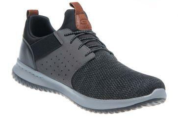Skechers DELSON CAMBEN Sneakers in Übergrößen Schwarz 65474/BKGY große Herrenschuhe – Bild 5