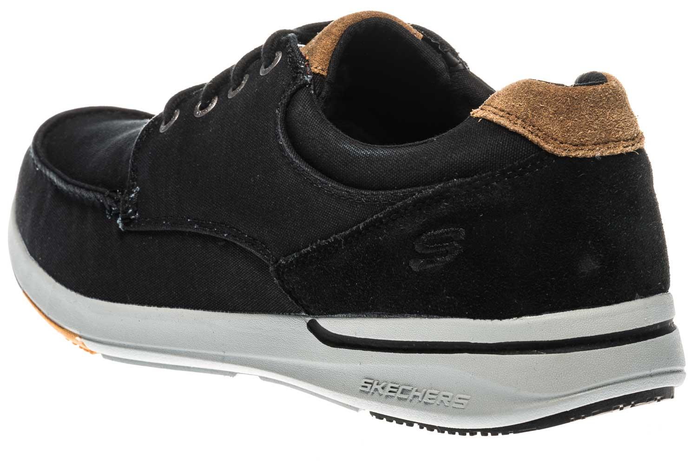 Skechers ELENT ARVEN Sneakers in Übergrößen Schwarz 65494/BLK große Herrenschuhe – Bild 2